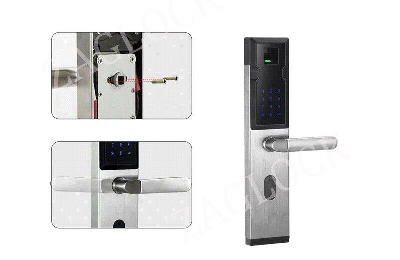 Electronic Security Biometric Sensor Fingerprint Door Lock Digital Keyless Combination Passowrd Code Door Lock For Smart Home