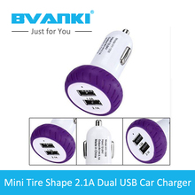 [Bvanki Car Charger]500Pcs/lot Buy Factory Direct China Dual USB Port 5V 2.1A Tire Car Charger For phones &Tablet Car-Charger