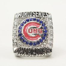 Unisex Adult Drop Shipping Newest Design 2016 Chicago Cubs Baseball Solid Champions Ring  Size 8-14