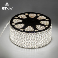 GT-Lite SMD 5050 DC 220V Led Strip Flexible Light Power Plug High Brightness  60leds/m Waterproof led Light  GTB5050