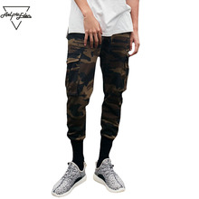 Aelfric Eden Men Jogger Fashion Sweatpants Multi-pocket Camo Cargo Pants Man Slim Fit Feet Hip Hop Harem Pants Wild Casual Pants(China)