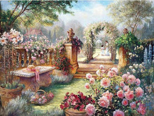 NEW Full diamond embroidery scenery diy 5d diamond painting cross stitch Needlework diamond mosaic train picture Home Decoration