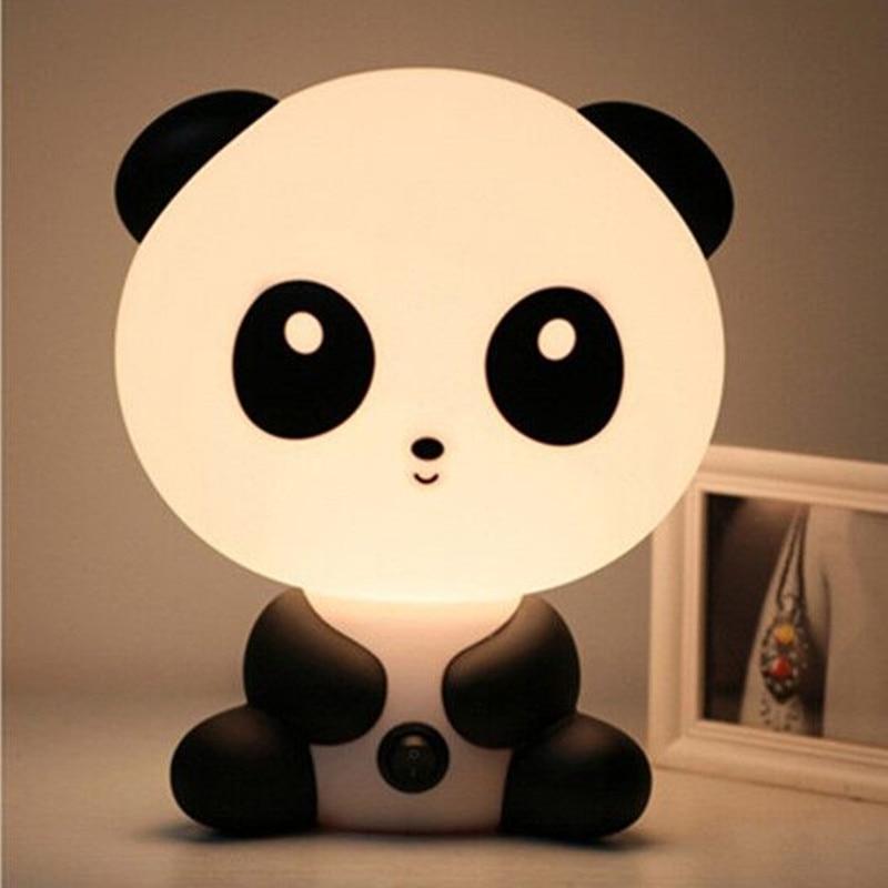 1x LED  Cartoon Night Sleeping Light Kids Bed Lamp Night Sleeping Lamp Best for Gifts Panda rabbit pig boys  dogs bears<br>