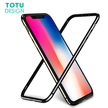TOTU Bumper Case For iPhone X 10 Coque Shockproof Frame Cover Case For iPhoneX Hard PC & Soft TPU Protective Border Case Capinha(China)