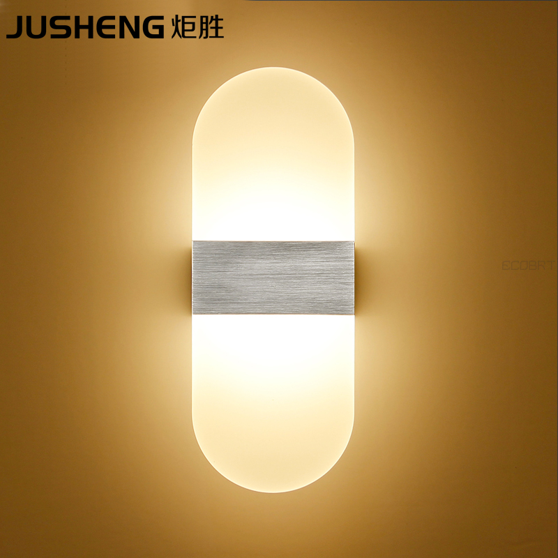 Round Aluminum Led indoor wall lights 6W Surface Mounting Decoration Sconces Wall Lighting Fixtures Silver/Black /Golden Lamps