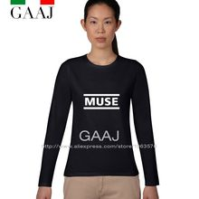 Clothes T Shirt Women Funny MUSE Tee Ladies Long Sleeve Ladies T Shirt High Quality Graphic Couple Rock Geek