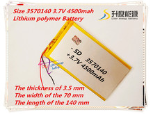 3570140 3.7V 4500mAh Rechargeable li Polymer Li-ion Battery For Bluetooth Notebook Tablet PC electronics safety lamp power bank(China)