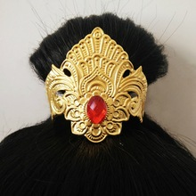 golden hair clip ancient hair accessories vintage hair decoration chinese ancient dynasty warrior cosplay vintage hairpin
