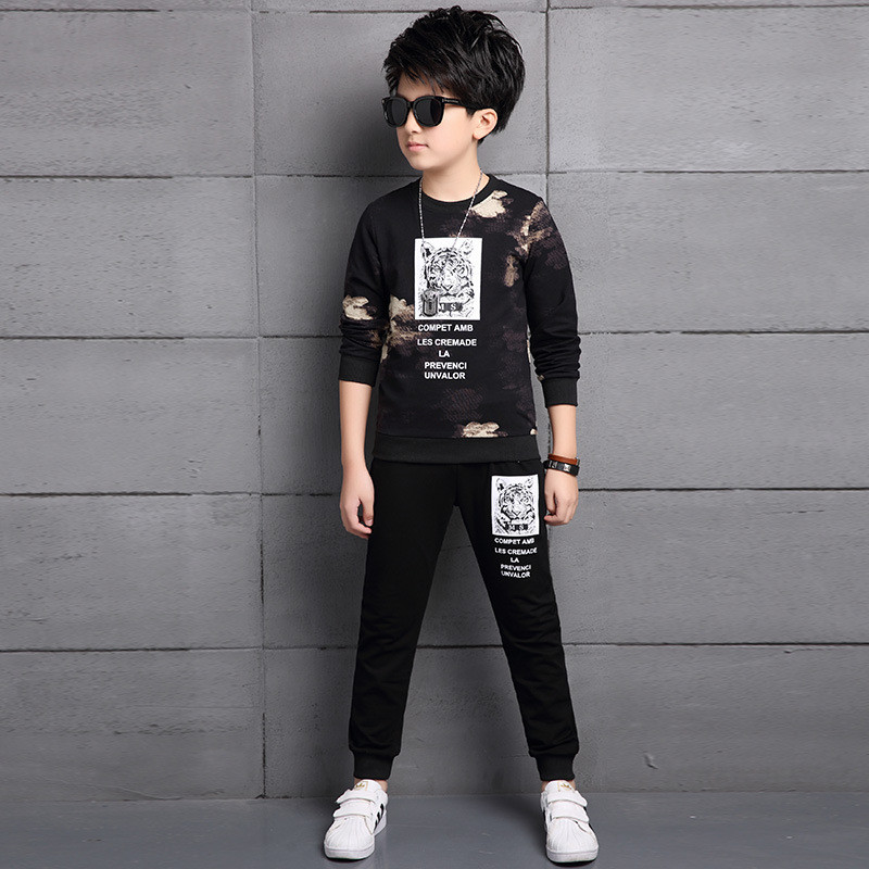 2017 Spring Boys Suits O-neck Pullover Clothing Casual Two-pieces Childrens Sets<br><br>Aliexpress