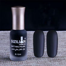 1 Bottle 12ml Black Matte Dull Fast-dry Nail Polish Manicure Nail Art Varnish Lacquer Nail Color #383