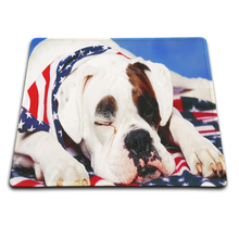 Soft Rubber Mousepad dog sleeping on the usa flag blanket MousePads Computer Gaming Mouse Pad Gamer Play Mats