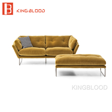 Lazy boy cheap Chesterfield style sectional sofa set material is fabric