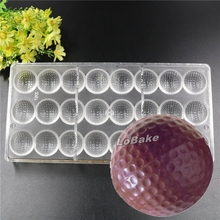 Latest 24 cavities golf ball Shaped PE polyethylene Material Chocolate candy ice cube Mold for DIY Chocolate baking supplies(China)