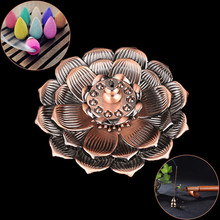 Lotus Incense Burner Holder Flower Statue Censer Plate For Sticks And Cone Beautiful decorative patterns practical useful