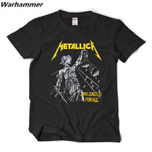 Music T shirt Metallica Justice for all Rock team brand new t shirt  tee fine cotton printing O-neck casual style brand clothing