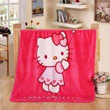 100*140cm Cartoon Hello Kitty Pattern Children Baby Cover Blanket Coral Fleece Household Travel/ AirPlane/ bed /Sofa Blanket