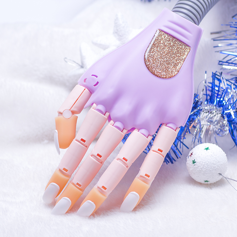 Personal &amp; Salon Nail Trainer  Tool Adjustable Nail Art Model Hand Practice DIY Nail Training Manicure Tool with 100 nail tips<br>