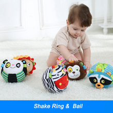 13*13cm Baby Ball Toy Cute Plush Rattle Baby Hold Animal Toy Ball Early Educational Hand Train Toy Novelty Stuff Toy I024(China)