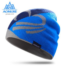 AONIJIE Men Women Winter Hats Wool Knitted Caps Soft Warm Ski Hat Cap Outdoor Sport Running Hats(China)