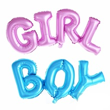 1pcs/lot Big Connected Letters Pink Blue Baby Girl Boy Foil Balloon Birthday Party Decor Baby Shower Air Globos festa infantil