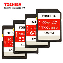 TOSHIBA N302 EXCERIA SD Memory Card UHS U3 128GB 64GB SDXC 32GB 16GB UHS U1 SD Card Class10 Flash Memory Card For camera 4K(China)