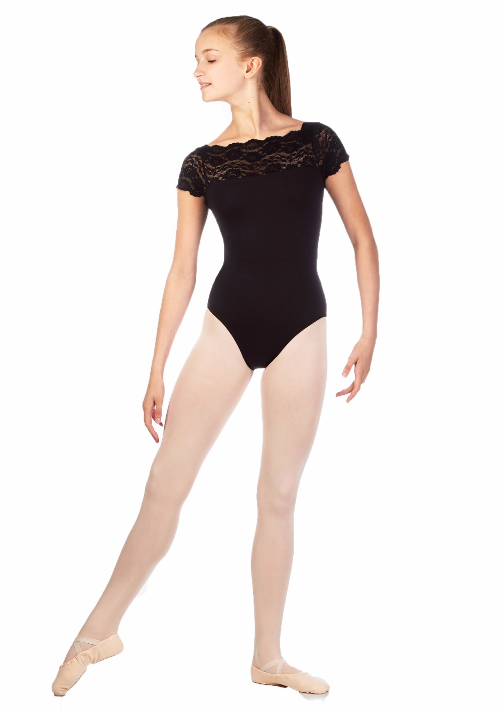 Black spandex dance unitard gymnastics and dancewear - Lzcmsoft Kids Cap Sleeve Black Lace Dance Leotards For Girls Gymnastics Spandex Toddler Dancewear Sport Tops