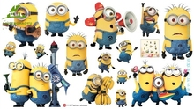 Despicable Me 3 Cartoon DIY Wallpaper For Kids Rooms Sofa Bedroom house decoration Art Decals 3D Home Decor Vinyl Wall Stickers