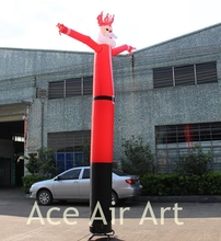 custom 12ft H advertising inflatable Santa Claus sky dancer for sale(China)