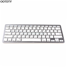Russian Mini Wireless Bluetooth 3.0 Slim Keyboard For Mac Windows PC Table-L059 New hot