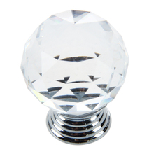 CSS Clear Crystal Glass Cabinet Drawer Door Knobs Handles 30mm