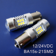 High quality 10W 12/24VDC BA15s BAU15s PY21W P21W 1141 1156 Truck,Freight Car led Tail Lamp,Turn Signal free shipping 100pcs/lot(China)