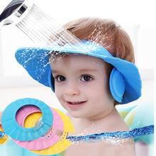 Adjustable Baby Bathing Cap Washing Shampoo Bath Shower Cap Hat Wash Hair Shield Bathing(China)