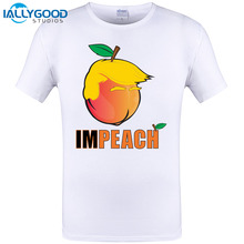 Buy 2017 New Summer New Arrivals Tees Homme Clothing imPEACH Trump Short Sleeve O neck Letter t-shirt funny Tops Tee S-6XL for $8.96 in AliExpress store