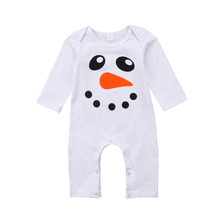 Adorable Newborn Baby Girl Boy White Duck Print Long Sleeve Casual Romper Playsuit Jumpsuit Outfits Clothes(China)