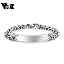 Buy Vnox 9mm Stainless Steel ID Bracelet & bangle Classic Silver-color High Trendy Jewelry for $5.72 in AliExpress store