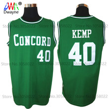 2017 Mens Dwayne Shawn Kemp Jersey Cheap Throwback Basketball Jersey #40 Concord High School Minutemen Retro Green Shirt For Men(China)