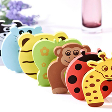Colorful EVA Cute Cartoon Animal Baby Kids Child Safety Care Security Door Stopper Edge Corner Guard Protector Finger Protection(China)