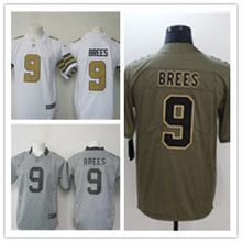 Mens 9 Drew Brees Jersey 2017 Rush Salute to Service High Quality Football Jerseys(China)