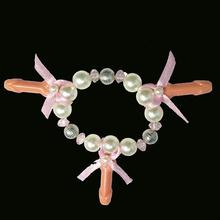 10pcs of pearl penis bracelets sex products bachelorette hen night for wedding party favor bride gifts birthday party and gifts