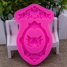Photo frame Shape Fondant cake silicone mould Kitchen for pastry candy Gum paste Chocolate Trim molding removal tool set FT-0919(China)