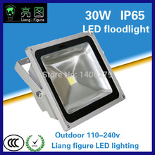 30W Waterproof  LEDOutdoor Floodlight White/Warm White AC110-240V IP65 LED Spotlight LED Projector lamp for squre