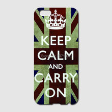 Keep Calm and Carry On Phone Case For iPhone 6 6S Plus 5 5S 5C 4S iPod Touch 5 4 For Samsung Galaxy S2 S3 S4 S5 Mini S6 S7 Edge