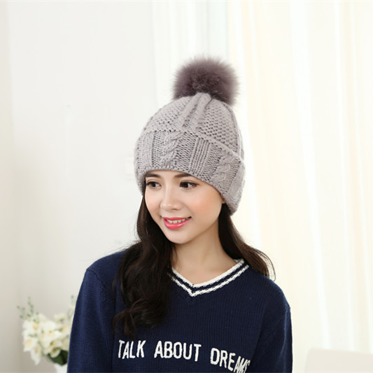 The new knitting wool sweater hat Women thick winter hair ball head cap IGE letters curling warm hatОдежда и ак�е��уары<br><br><br>Aliexpress
