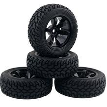 4pcs 1/16 Rally Tire Off-road tires Buggy Wheels 1/10 on road car pull rally Tyre suitable for HSP 94123 RC Car 75mm