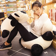 New Lovely Giant 70cm Lying Cartoon Panda Plush Pillow Toy 28'' Soft Animal Pandas Kids Doll Baby