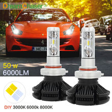 Dream Chaser 3000K 6500K CSP Chips 9005 LED Headlight Bulbs Auto-styling Replacement Headlamps 50W 6000lm 2pcs HB3 Led Fog Lamps(China)
