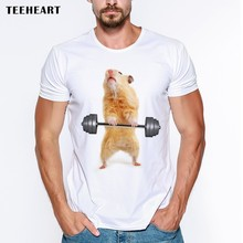 T Shirt Men 3D Animal Shirt Cute Hamster T-shirt Men Clothes Funny Tee Tops For Men