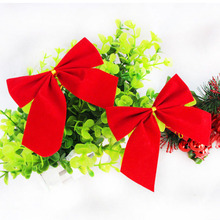 Brand New 12pcs Bow Christmas Present Tree Decoration Bowknot Party Xmas Decor Festival Supplies Red Color