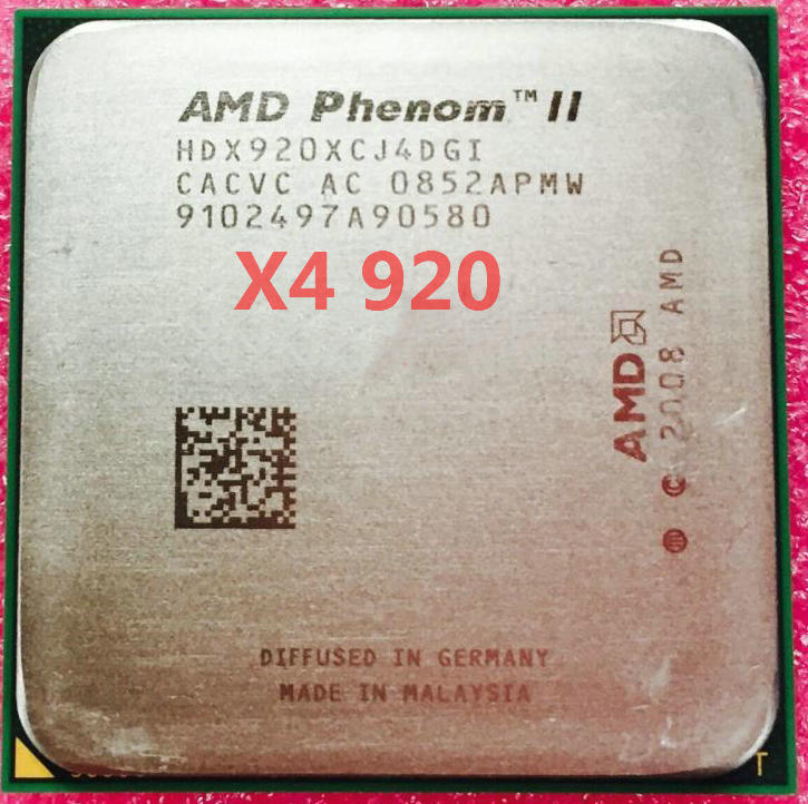 Free shipping AMD Phenom X4 920 2.8GHz Quad-Core CPU Processor HDX920XCJ4DGI 125W Socket AM2+/940PIN