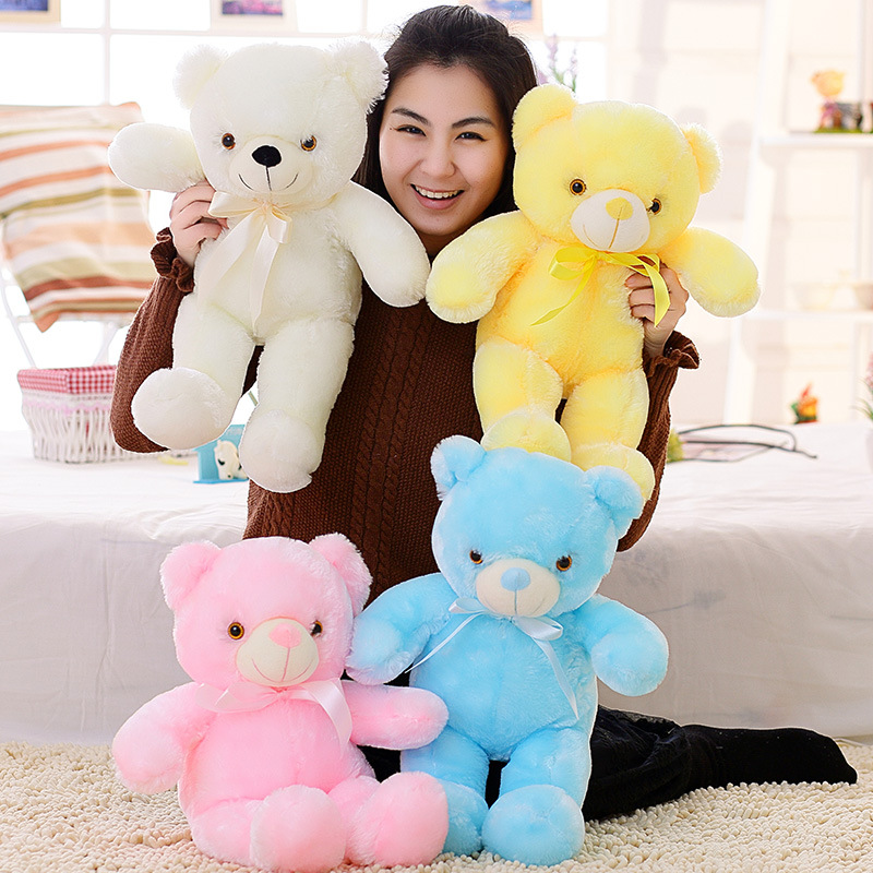 3-Cute-50cm-Creative-Light-Up-LED-Teddy-Bear-Stuffed-Animals-Plush-Toy-Colorful-Glowing-Teddy-Bear